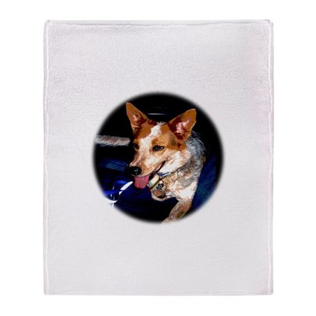 Red Heeler Throw Blanket