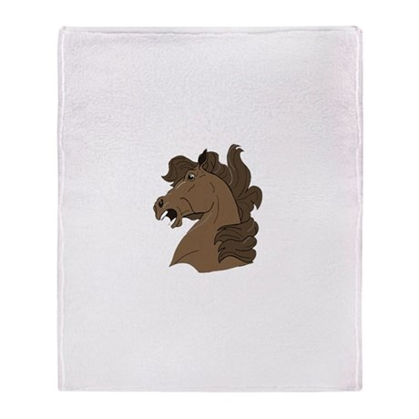 Brown Horse Throw Blanket
