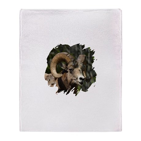Bighorn Sheep - Ram Throw Blanket