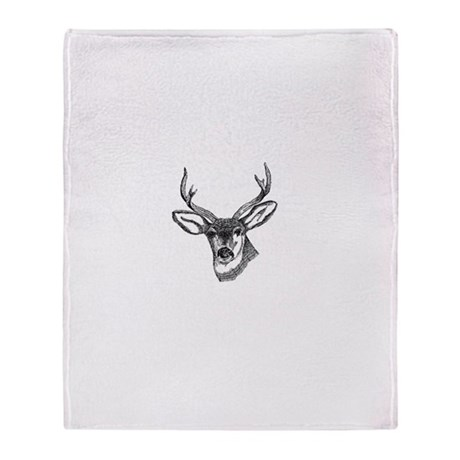 Whitetail Deer Throw Blanket