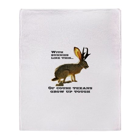 Texas Jackalope Throw Blanket