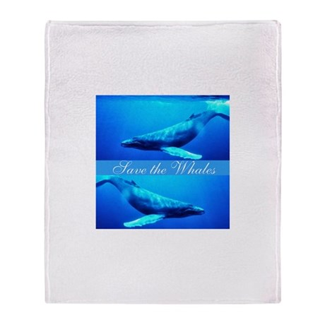 Save the Whales Throw Blanket