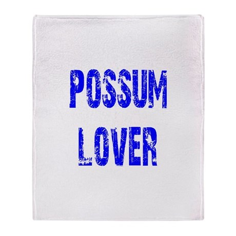 Possum Lover Throw Blanket