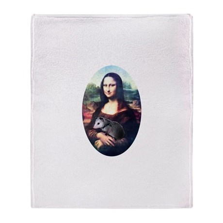 Mona Lisa Possum Throw Blanket