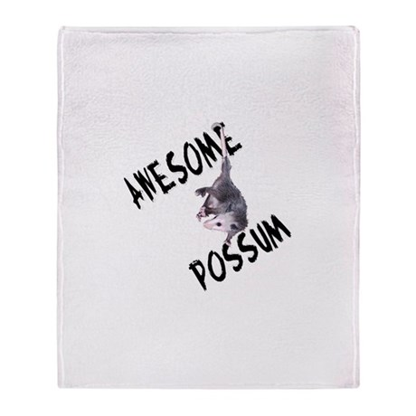 Awesome Possum Throw Blanket