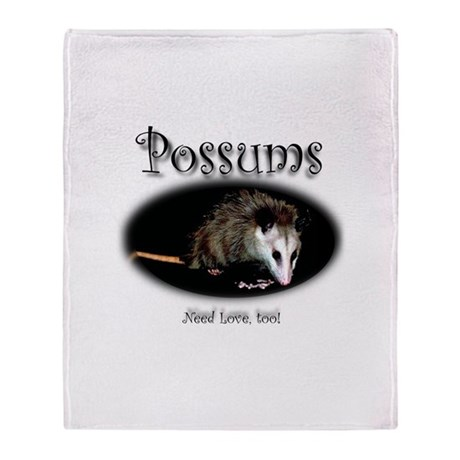 Possums Need Love Too Throw Blanket