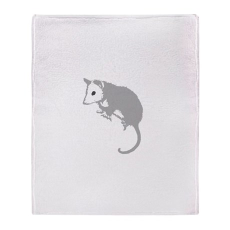 Possum Silhouette Throw Blanket