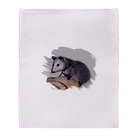 Baby Possum Throw Blanket