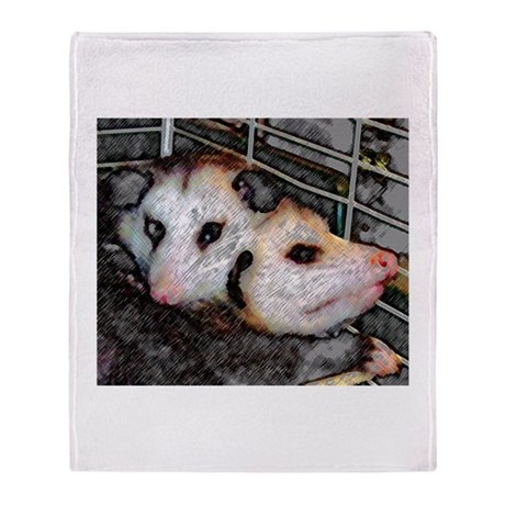 Possum Love Throw Blanket