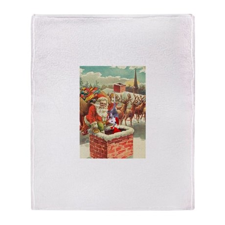 Santa's Helper Possum Throw Blanket