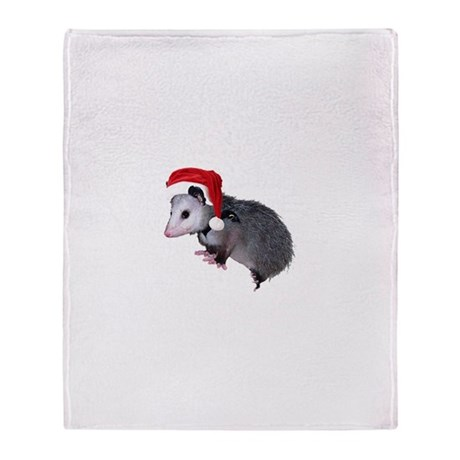 Santa Possum Throw Blanket