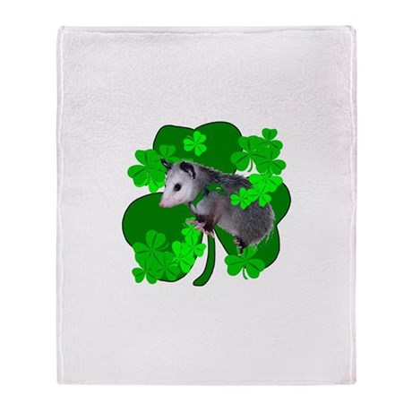 Lucky Irish Possum Throw Blanket