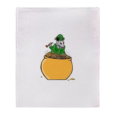 Possum Leprechaun Throw Blanket