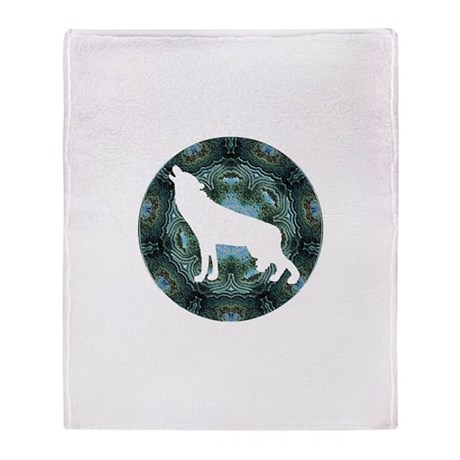 White Wolf Throw Blanket