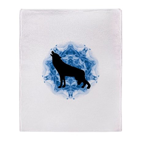 Wolf Silhouette Throw Blanket