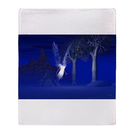 Iridescent Angel Throw Blanket