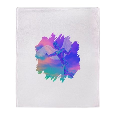 Angel of Light Throw Blanket
