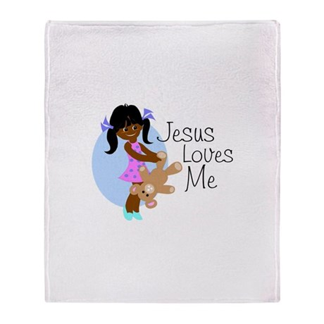 Jesus Loves Me Throw Blanket
