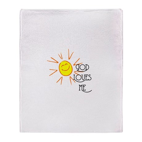 God Loves Me Throw Blanket