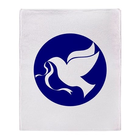 Peace Dove Throw Blanket