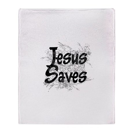 Jesus Saves Throw Blanket