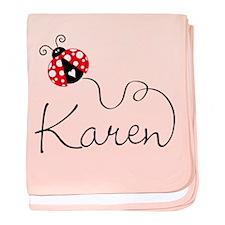 Ladybug Karen baby blanket