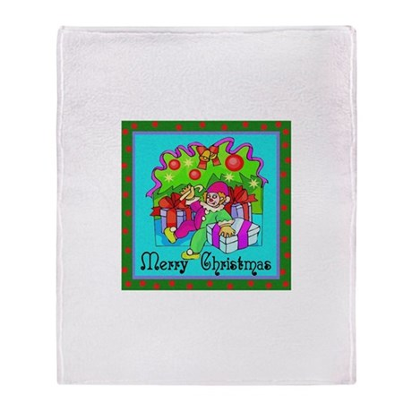 Merry Christmas Clown Throw Blanket