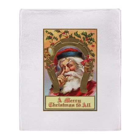 Vintage Santa Throw Blanket
