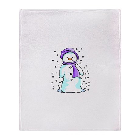 Happy Snowman Throw Blanket