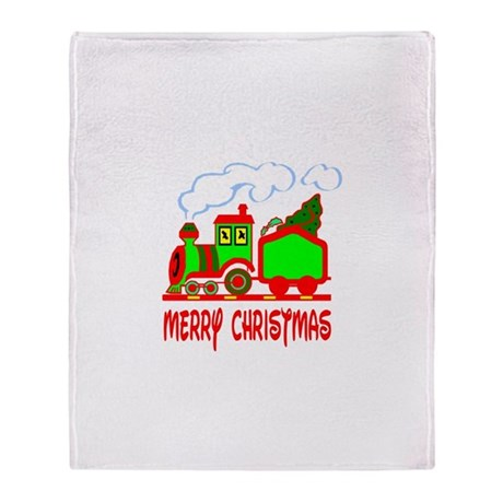 Christmas Train Throw Blanket