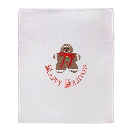 Gingerbread Holidays Throw Blanket