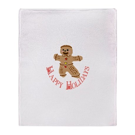 Gingerbread Man Throw Blanket