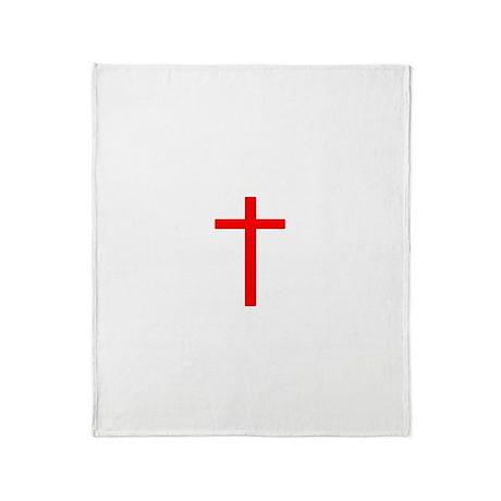 Red Cross Throw Blanket