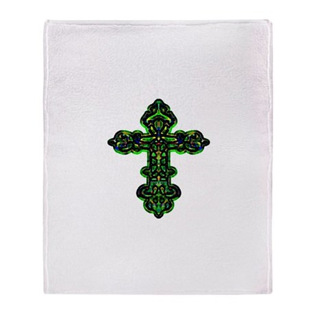 Ornate Cross Throw Blanket