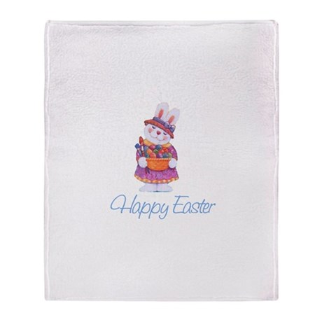 Happy Easter Bunny Throw Blanket