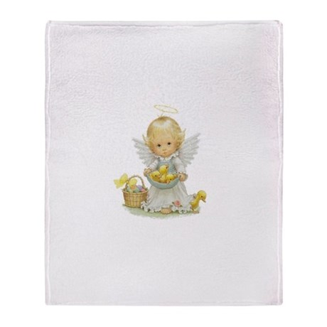 Easter Angel Throw Blanket