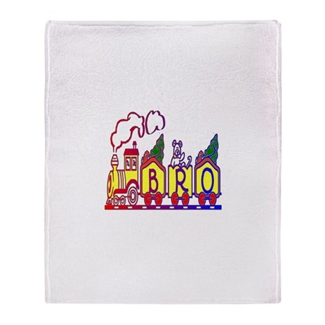 Bro Train Throw Blanket