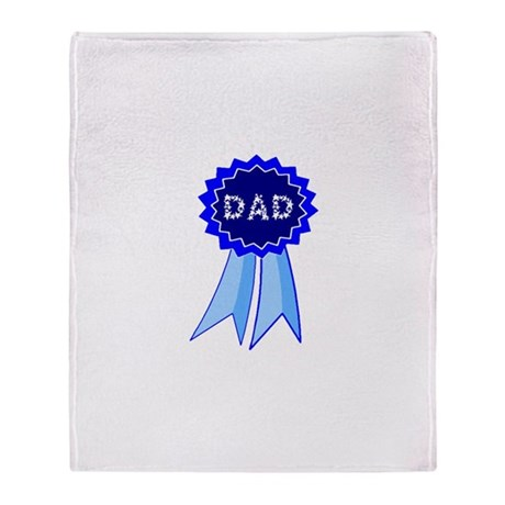Dad's Blue Ribbon Throw Blanket