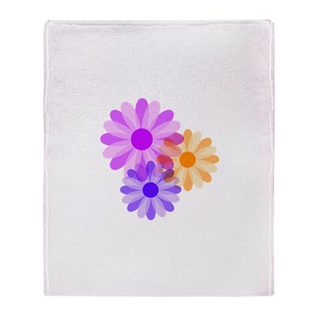 Flowers Throw Blanket