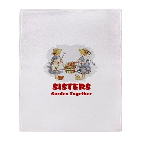 Sisters Garden Together Throw Blanket