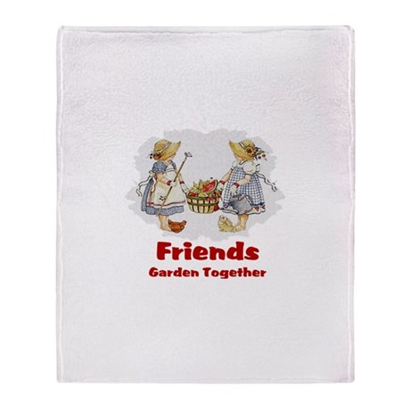 Friends Garden Together Throw Blanket