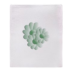 Pretty Daisy Trio - Green Throw Blanket