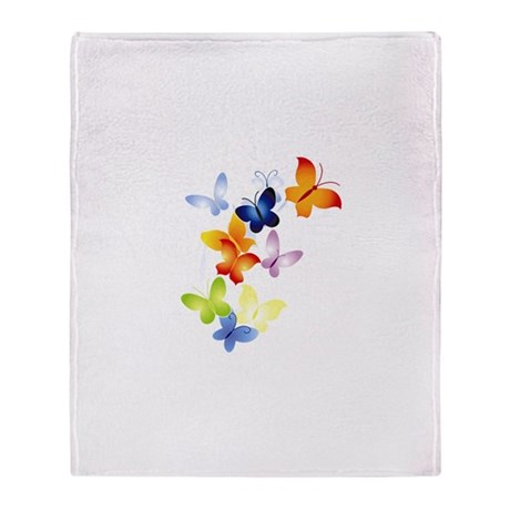 Butterfly Cluster Throw Blanket
