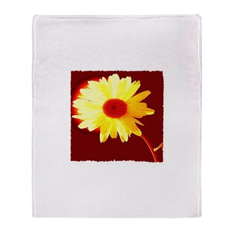 Hot Daisy Throw Blanket