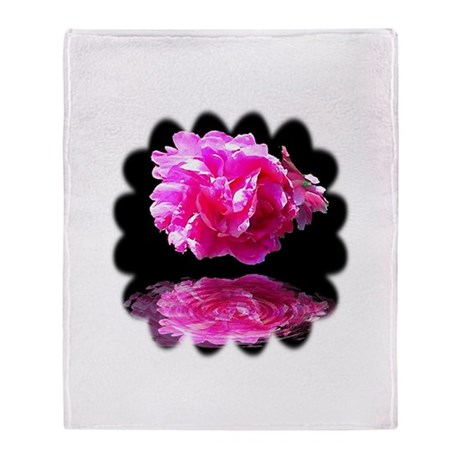 Peony Reflections Throw Blanket