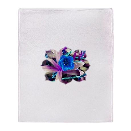 Blue Flower Throw Blanket