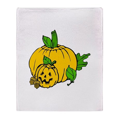 Jack 0 Lantern Throw Blanket