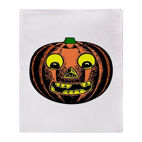 Vintage Jack-O-Lantern Throw Blanket