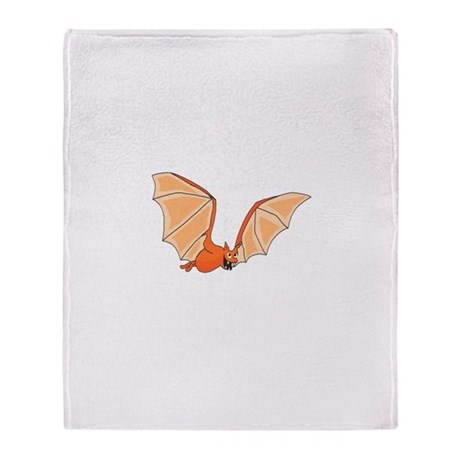 Flying Bat Throw Blanket