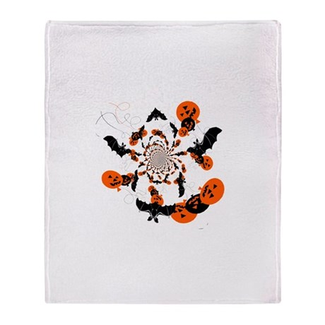 Pumpkin Bats Throw Blanket